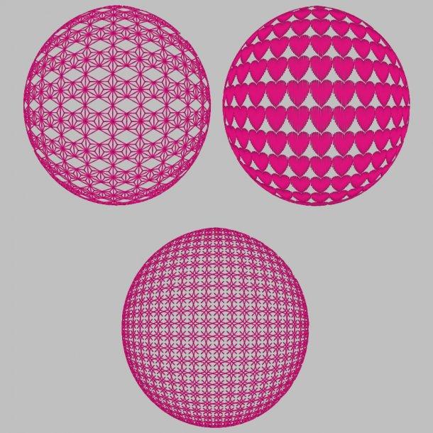 3D globe 3 forskellige