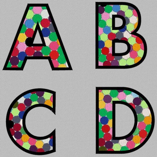Boblebogstav ABCD