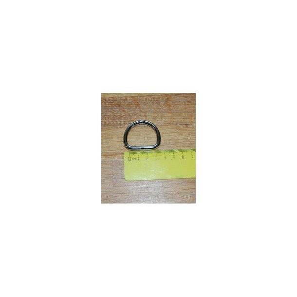 Meget kraftig D ring i metal svejset. 30 mm i indvendig bredde