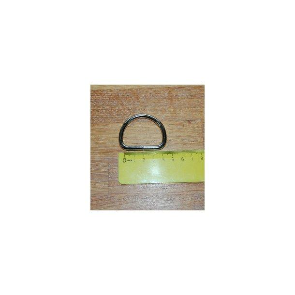 Kraftig D ring i metal svejset. 40 mm i indvendig bredde