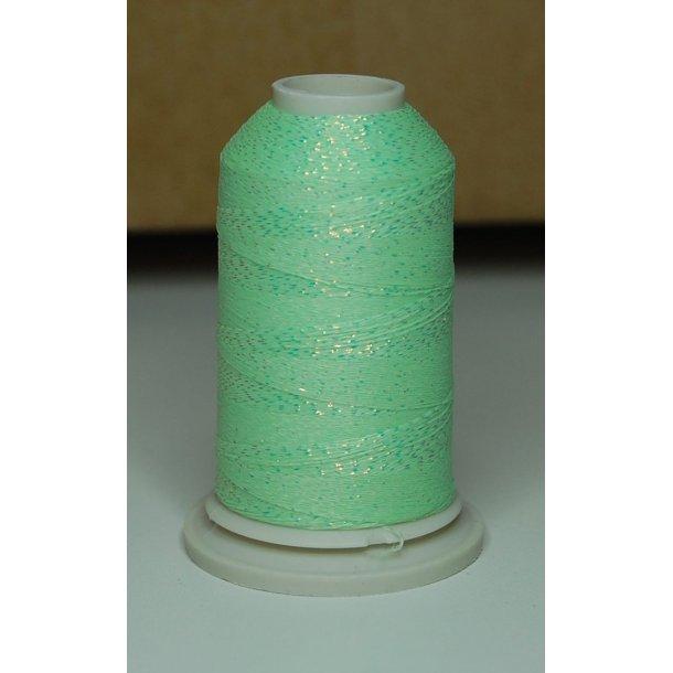 Neonmetaltråd grøn med sølv
