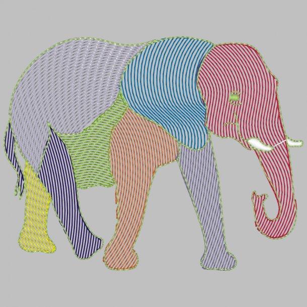 Elefant contour