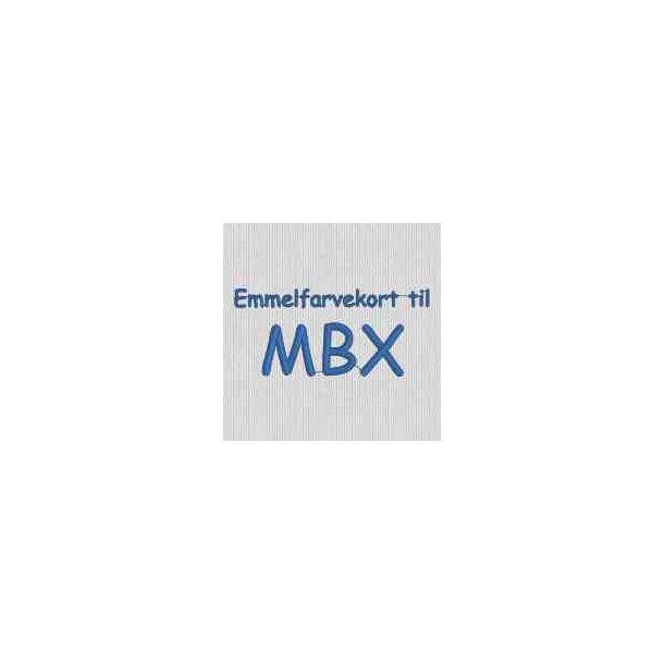 Emmelfarvekort til MBX