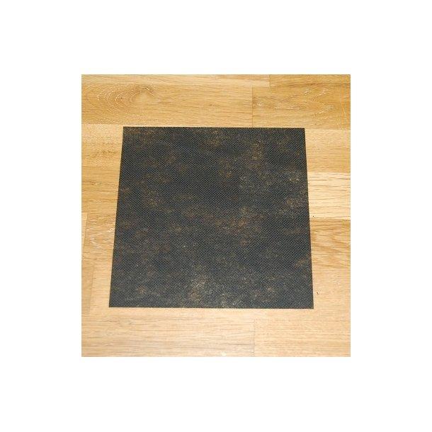 Blød rivevlies tynd 100 cm bred - sort - 5 meter