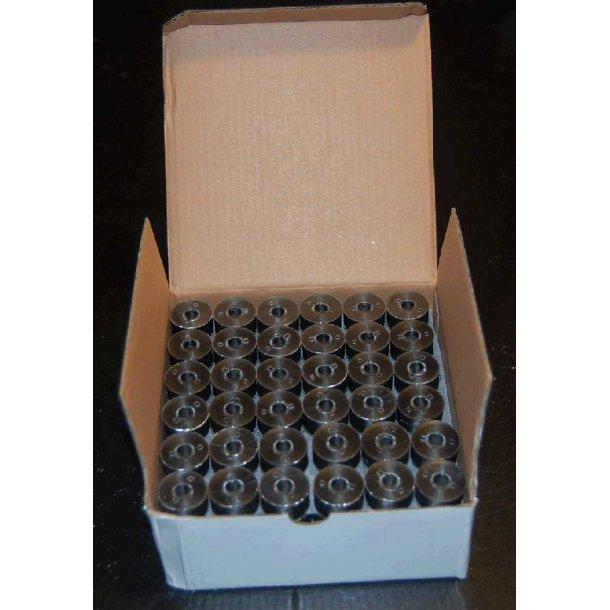 Plastikspoler med undertråd sort A style 144 stk.