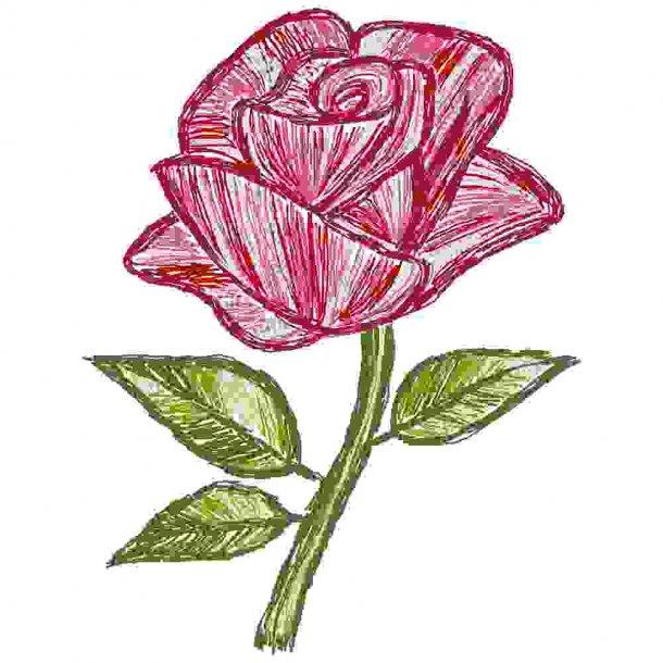 Threadpaint rose