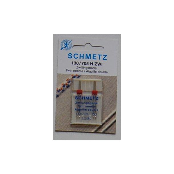 Schmetz Tvillinge nål 2,0/ 80 2 stk.