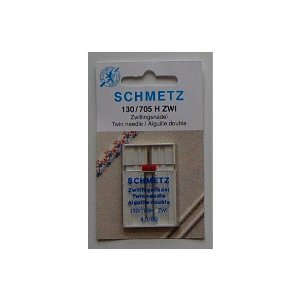 Schmetz Tvillingnål 4,0/80 1 stk