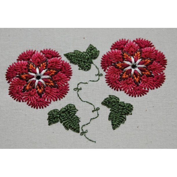 Handlook stitches blomster